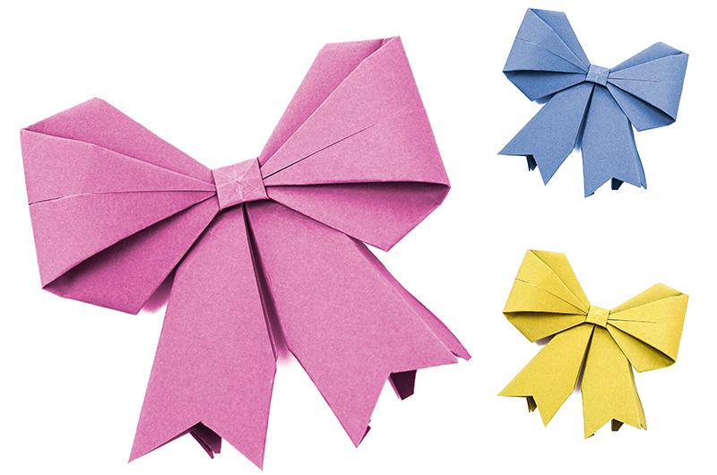 【シモジマ オンライン】折り紙で作るいろいろなリボンの折り ...