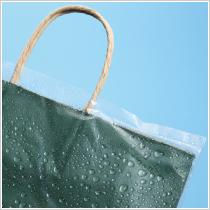 雨から紙袋を守る レイニーポリ