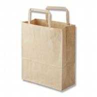 HEIKO 紙袋 H25チャームバッグ 20-1(平手) 未晒無地 50枚