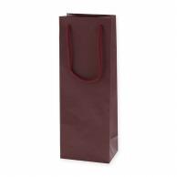 HEIKO 紙袋 カラーチャームバッグ ワインL 1本用 エンジ 10枚